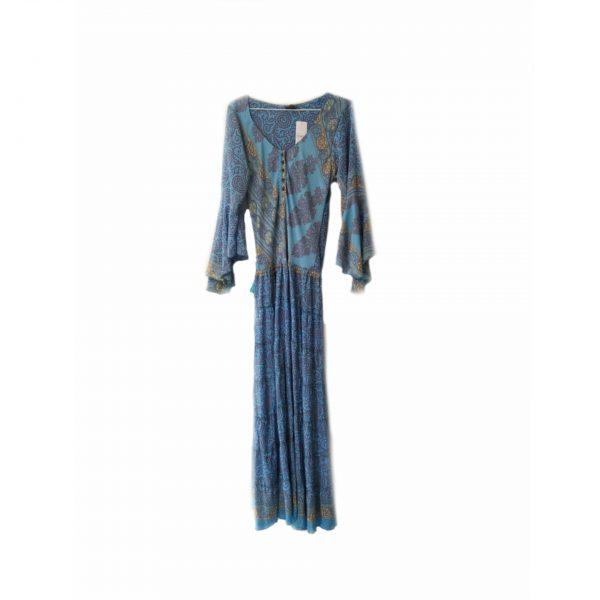 Vestido largo de seda