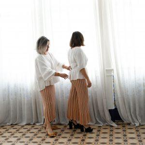 Falda y pantalón orangerie