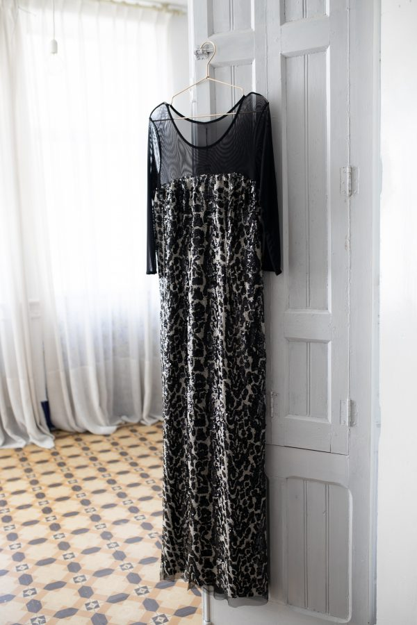 Vestido Print BW