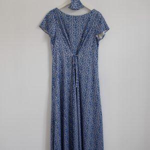 Vestido azul ajustable