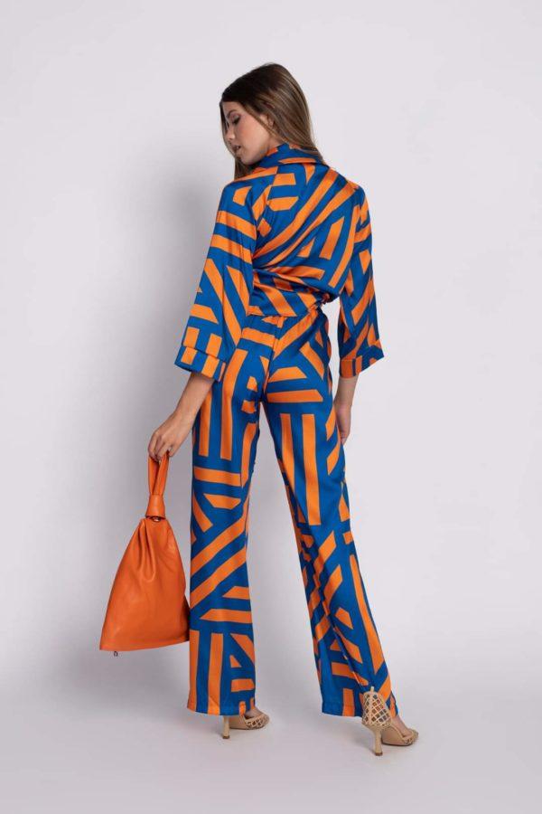 blusa y pantalón geometrías